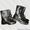 Берцы кожаные хромовые #356161