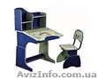 Детская стол-парта 2071 синяя практически даром