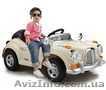 Детский электромобиль Mercedes Benz 128 RETRO. БЕЖЕВЫЙ